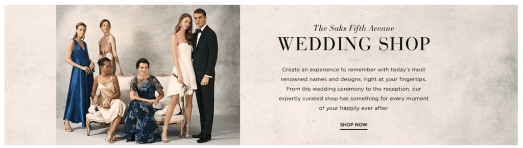 Saks Fifth Avenue Wedding Shop